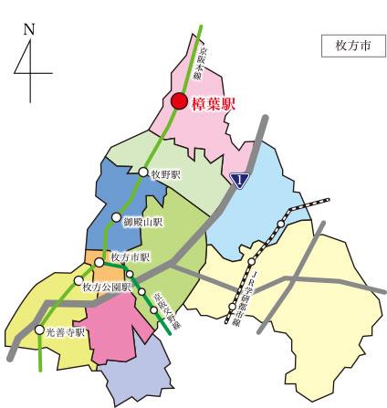 京阪本線『樟葉駅』は大阪府枚方市にある駅で、京阪電車の駅では大阪府の最北部に位置します。