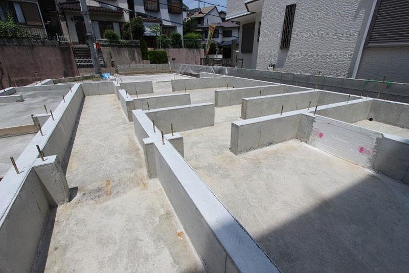 アプリ―レ朝日丘 コンクリート打設工事後の写真