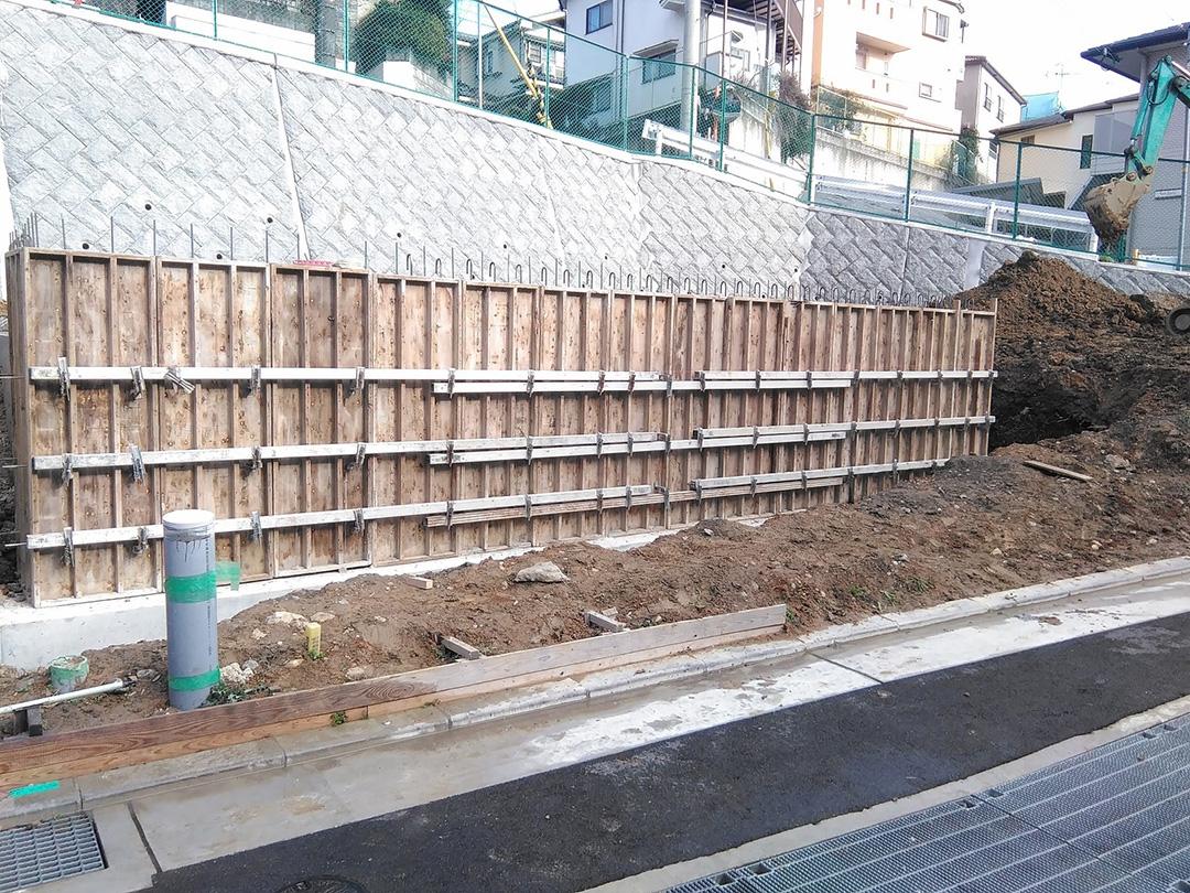 グランステージくずは 基礎工事の写真