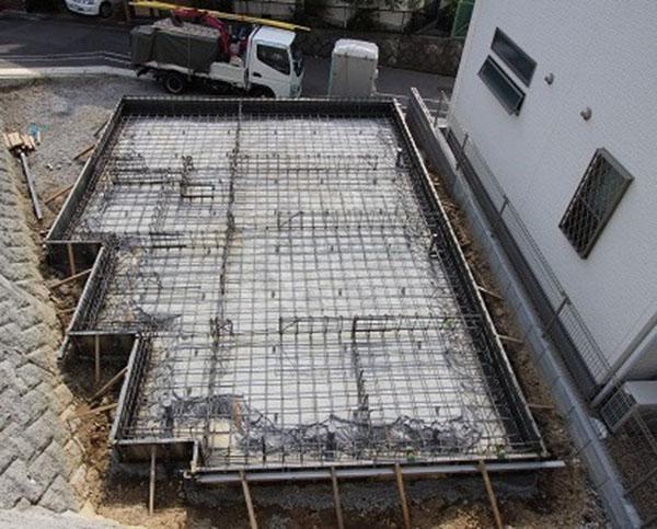 グランステージくずは 配筋工事の写真3