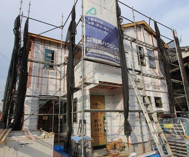 グランヒルズくずは モデルハウス進捗状況の写真