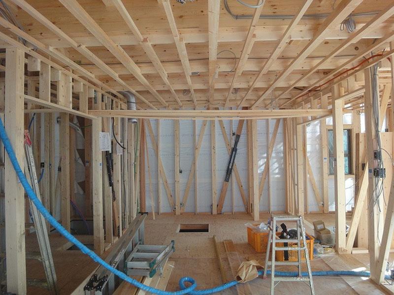 グランヒルズくずは モデルハウス内部 1階リビングの写真
