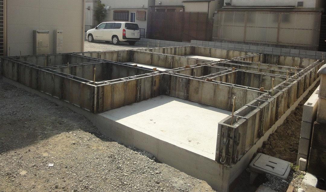 グランヒルズくずは 基礎工事の写真1
