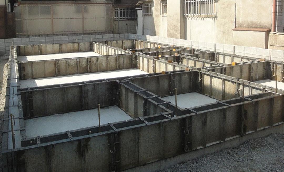 グランヒルズくずは 基礎工事の写真2