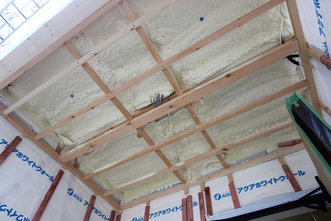 グランヒルズくずは モデルハウスの建築進捗状況の写真2