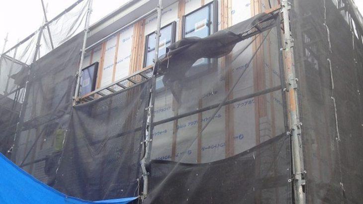 グランヒルズくずは モデルハウスの進捗状況 外側の写真