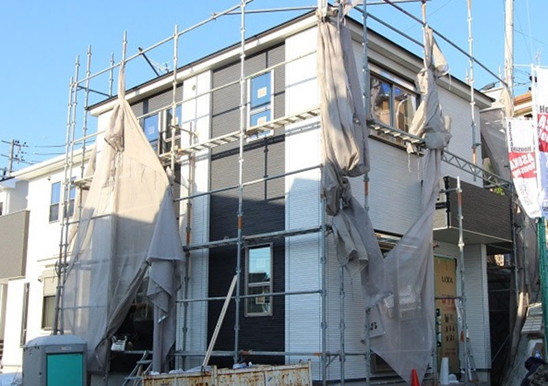 グランステージくずは モデルハウス進捗状況の写真