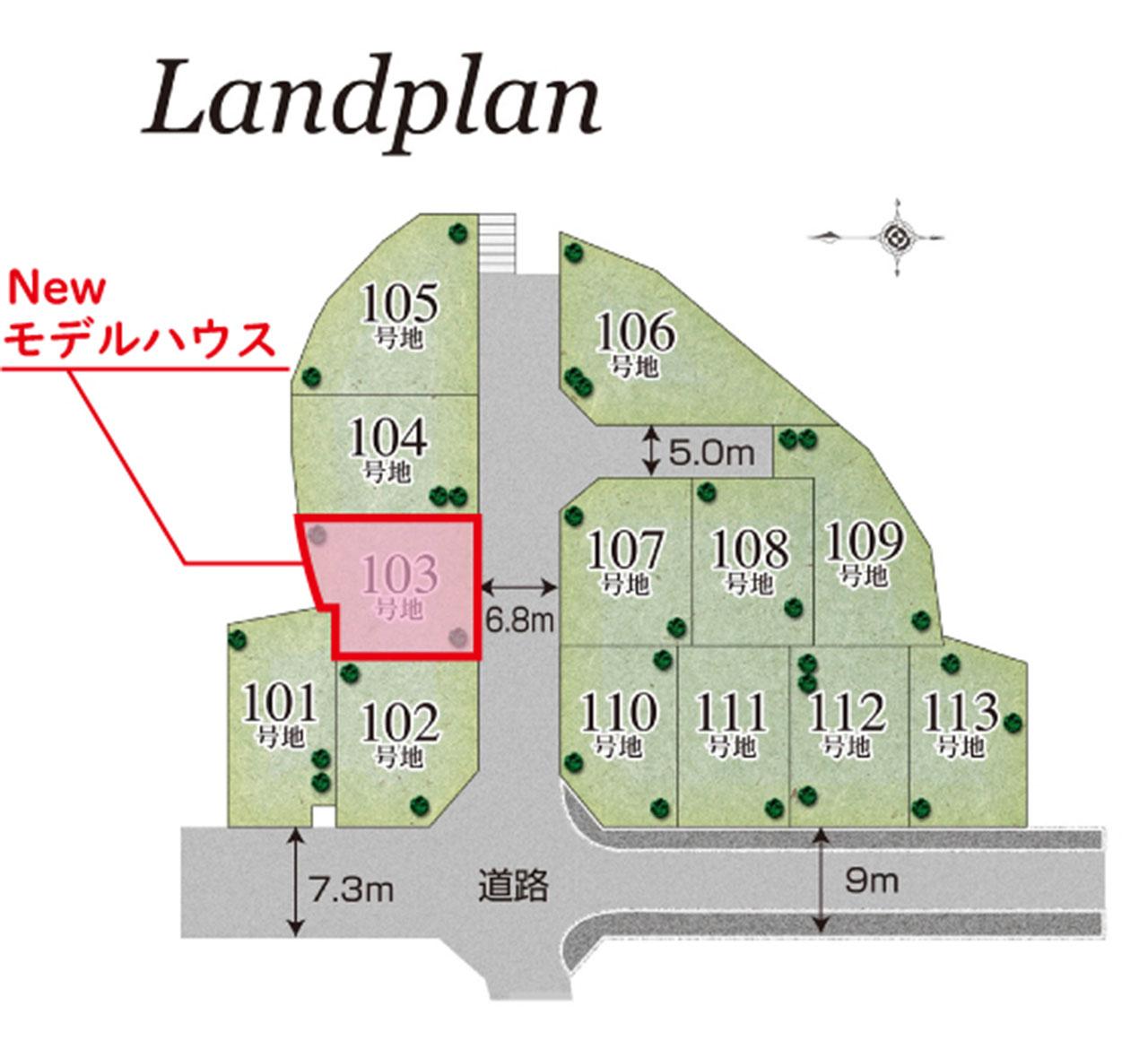 グランステージくずはⅢ 区画図