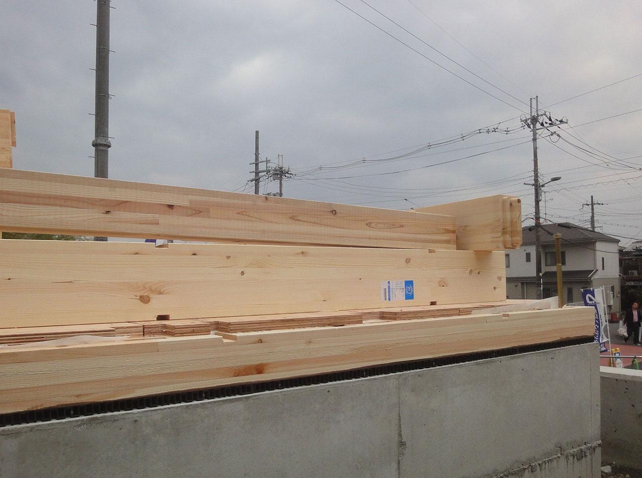 グランステージくずはⅢ 土台敷き完了後の写真