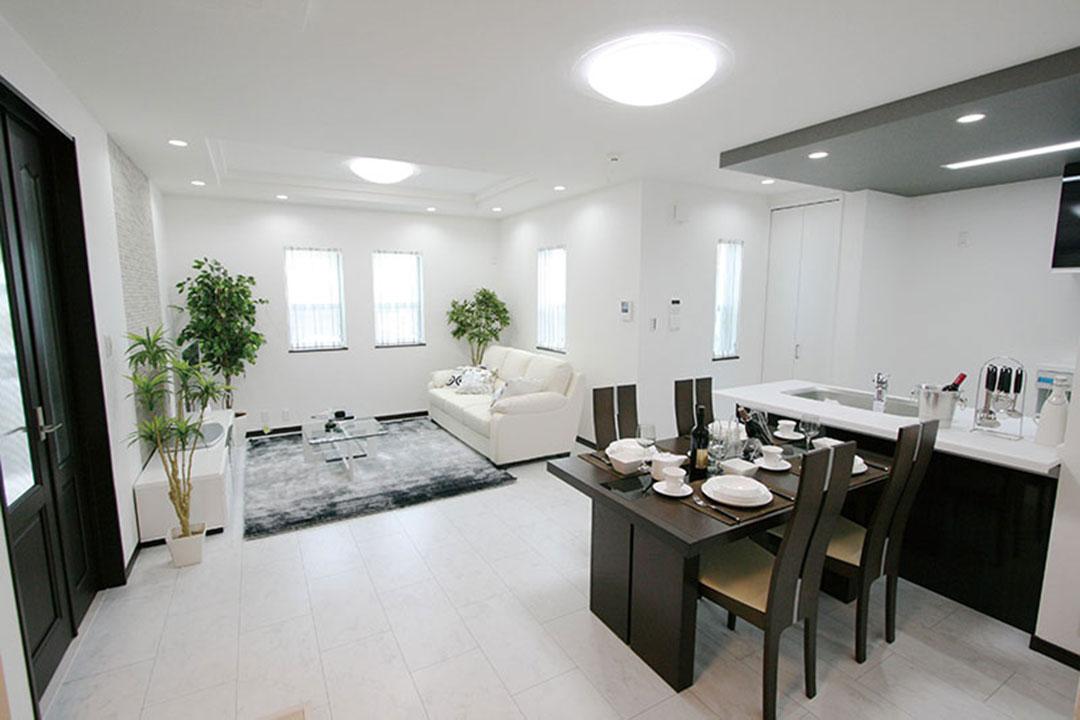 グランステージくずはⅢ モデルハウスの家具配置、室内イメージ