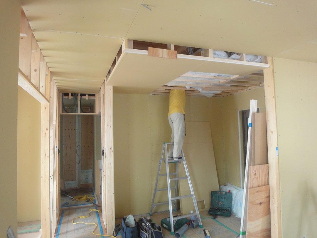 グランステージくずはⅢ モデルハウス 建築中の家の写真