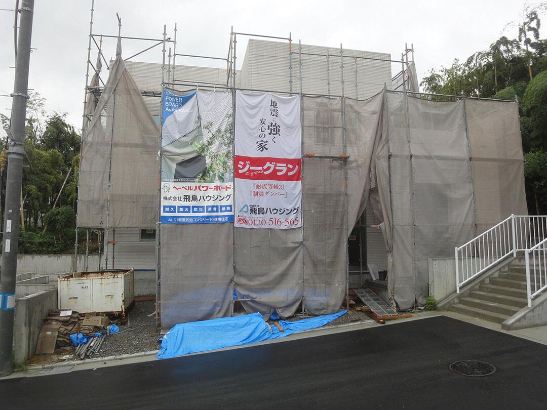 グランステージくずはⅢ 外壁材の施工の写真