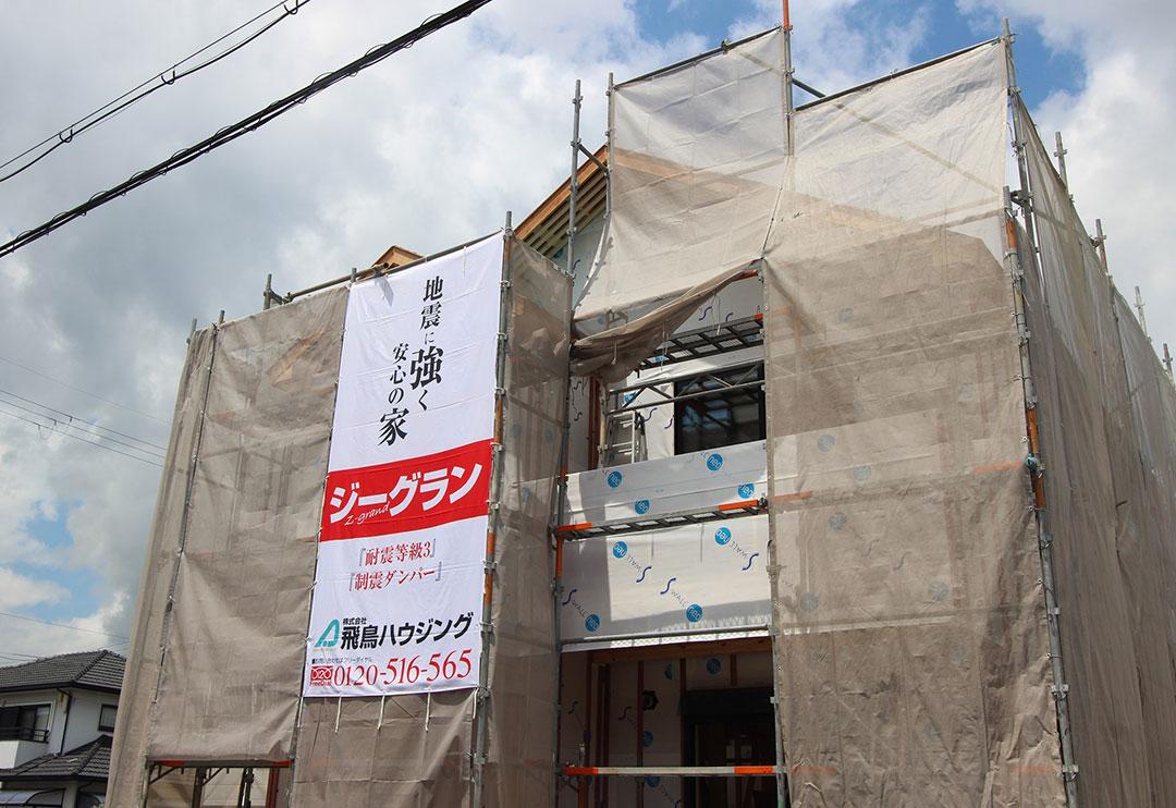 アスカーサ楠葉野田Ⅰ モデルハウス建築工事の進捗写真