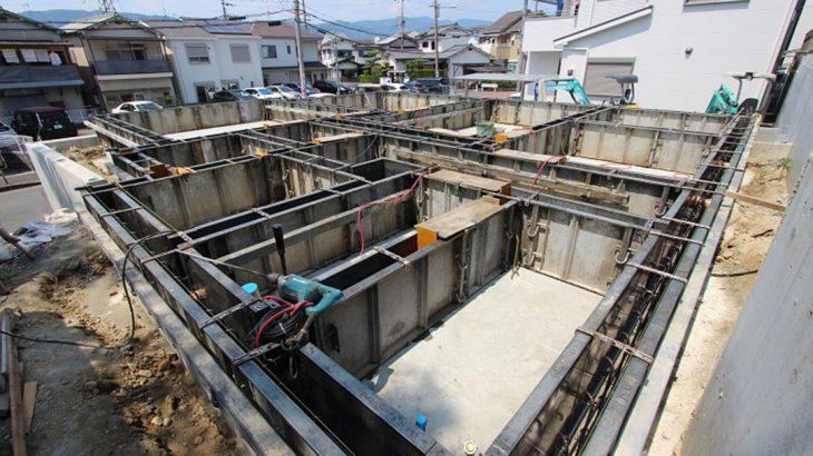 グランステージくずはⅢ モデルハウスGS-113号室の基礎工事の写真