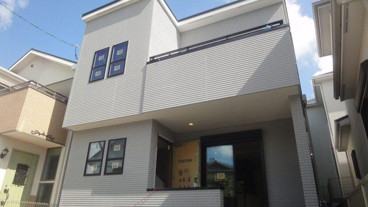 グランステージくずはⅢ モデルハウス 外壁工事完了の写真