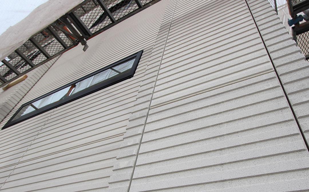 アスカーサ男山金振 モデルハウス 外壁材